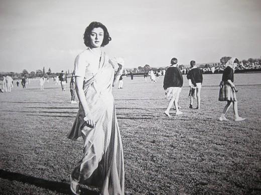 Maharani Gayatri Devi walk