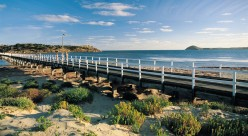 Bridge from Victor Harbour to Granite Island, home to Little Penguins.