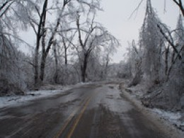 Many times, the Ice has to thaw before power repairs can be made.