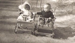 Back when I was young we didn't have strollers.