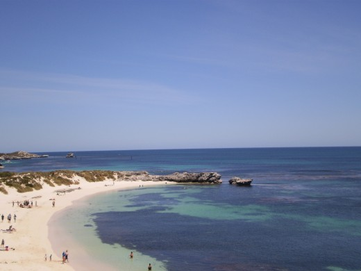 Pristine waters and beach of Rottnest Island