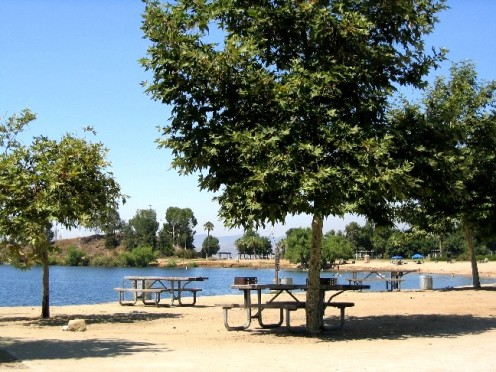 The day use areas of Lake Perris