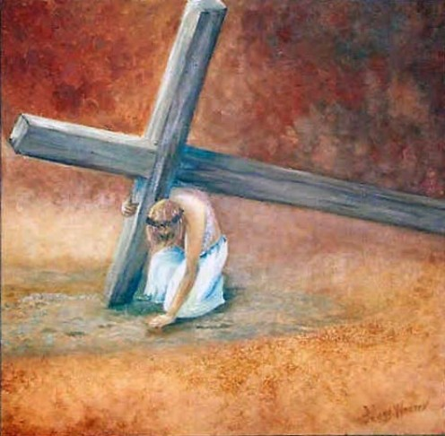 Luk 14:27  And whoever does not bear his cross and come after Me, he cannot be My disciple.
