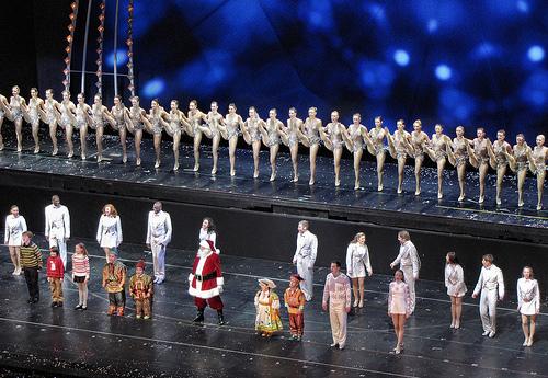 Rockettes and Santa