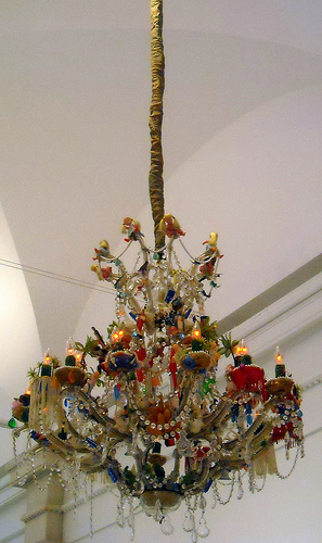 A chandelier at the Smithsonian