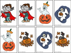 Halloween Concentration Card Game