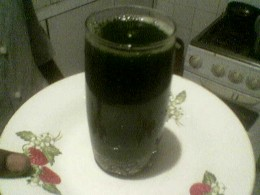 juice extracted and ready to drink, quite taste.