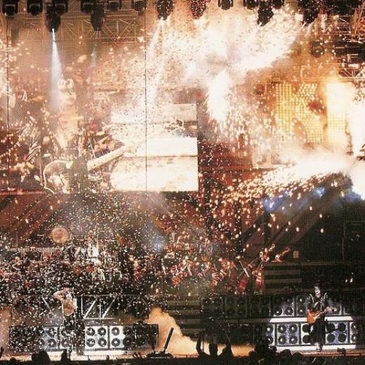 This photo is from the amazing KISS SYMPHONY! If you look closely you can see the Orchestra among the flames!