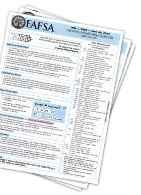 FAFSA application form
