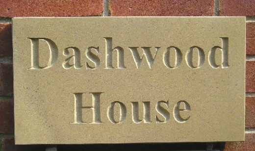 A new York Stone house sign.