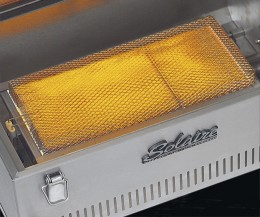 Infrared grills can be over 1400 degrees for even searing and evenly distributed heat
