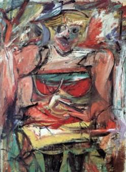 """Willem de Kooning's """"Women V"""" (1952-1953)"""