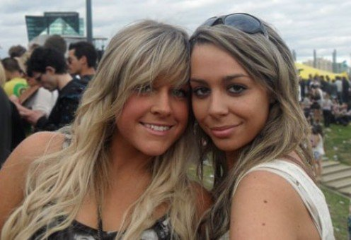 Both Girls Are Wearing The Easy Full Set Clip Hair Extensions Easily Applied At Home.