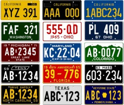 So much to learn from examining license plates
