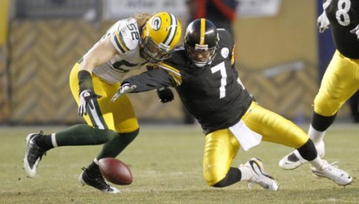 Clay Matthews raised his sack total to 10, as he recorded two sacks against the Steelers. In his last six games, Matthews has seven sacks and is emerging into a big time pass rusher. (AP Photo/Keith Srakocic)