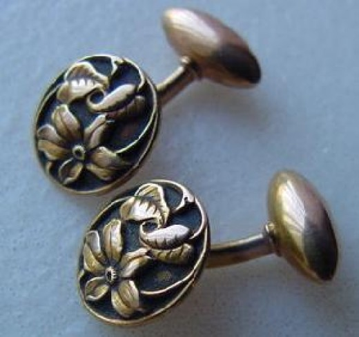Antique Art Nouveau Cufflinks