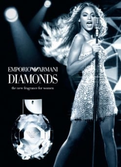 Giorgio Armani Diamonds campaign with Beyonce