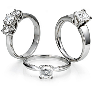 a lot of engagement rings to choose from