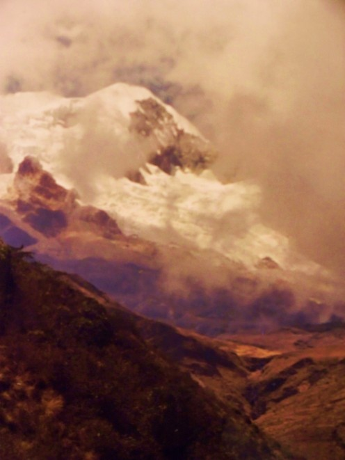 Ancouma is a sacred mountain in the Andes. Bolivia.