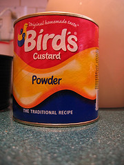 Birds Custard Powder. An English Staple for making Trifle If you can't find it there are alternatives you can use.
