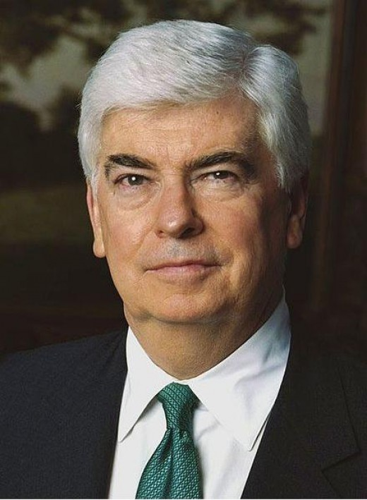 Sen Christopher Dodd of Connecticut  (Public Domain Photo courtesy of WikiPedia.org  http://en.wikipedia.org/wiki/File:Christopher_Dodd_official_portrait_2-cropped.jpg )