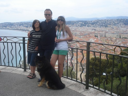 My Husband, Daughter, Son  & Our Loving Eurasier Dog Benda in Nice, France