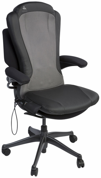 Massage Pad Strapped To Office Chair