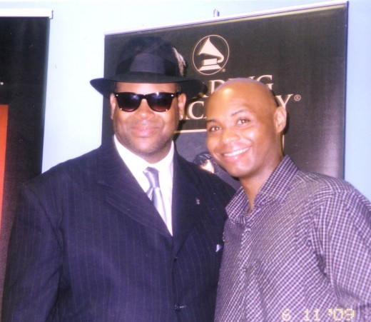 That's the famous Jimmy Jam chill'n in his nice shades and that's me (the editor of the hub) writer, music composer Darryl a.k.a. King Daddy Dee.
