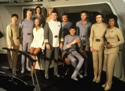 The cast of Star Trek: The Motion Picture