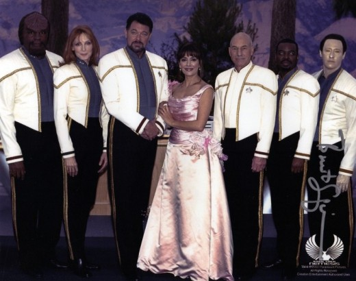 The wedding of Riker and Troi