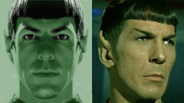 Old Spock and new--both featured in the new Star Trek movie