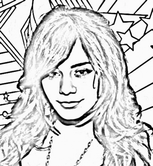 vanessa coloring pages - photo#22