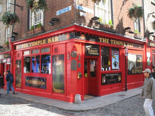 Temple Bar Dublin, now a large source for hen and stag nights