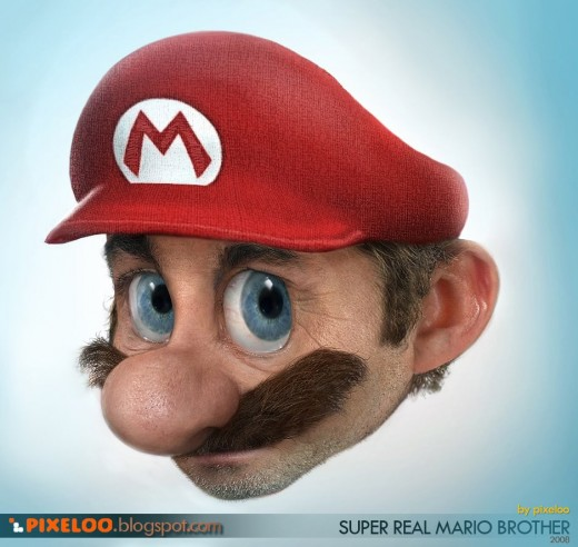 Super Real Mario Brother by Jax Pixeloo