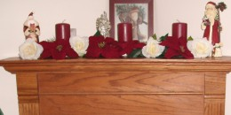 Christmas Silk Floral (photo courtesy of GmaGoldie) Red Poinsettias