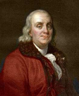 Benjamin Franklin, like the United States, is often portrayed in elementary US History lessons as possessing an implausible lack of bias. Photo courtesy of wikimedia.