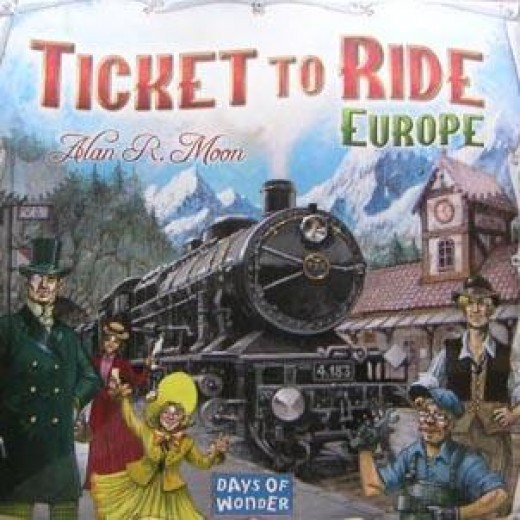 The European version of a ticket to ride features cities across the European continent, and is for 2-4 players.