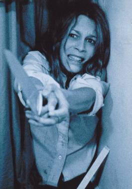 Final Girl, Laurie Strode fending off madman Michael Myers!!     Picture courtesy Wikipedia Commons