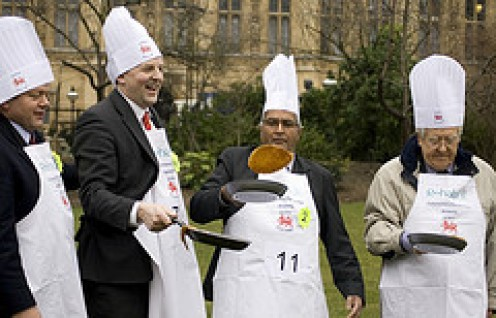 The Westminster Pancake race