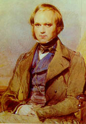 Darwin as a young man