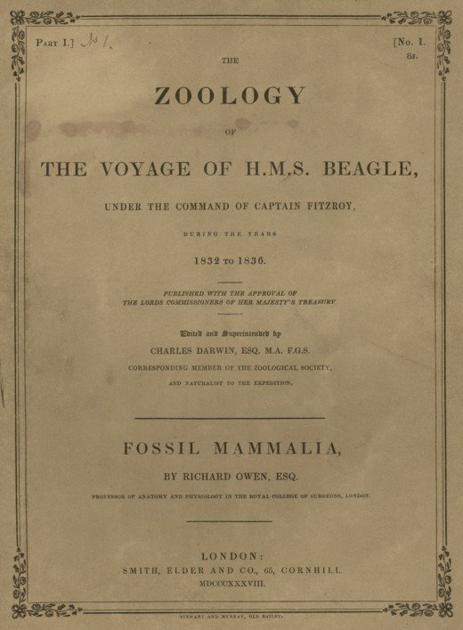 Title page of the Voyage of the Beagle
