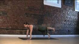 This version of plank with one leg lifted wakes up stabilizing muscles all over your body.