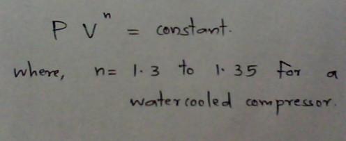 Equation for polytropic compression