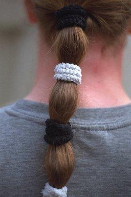 long multiple tied hair