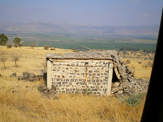 Syrian bunker on the Golan Heights.  (This is not Josi's bunker)