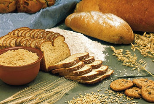 Grain and whole-grain products. Picture from http://simple.wikipedia.org/wiki/Dietary_fiber