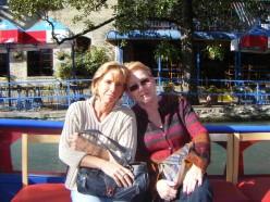 Mom and me - Riverwalk, San Antonio