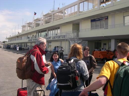 Arrival at Port-au-Prince