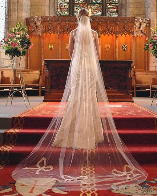 Cathedral Wedding Veil Style