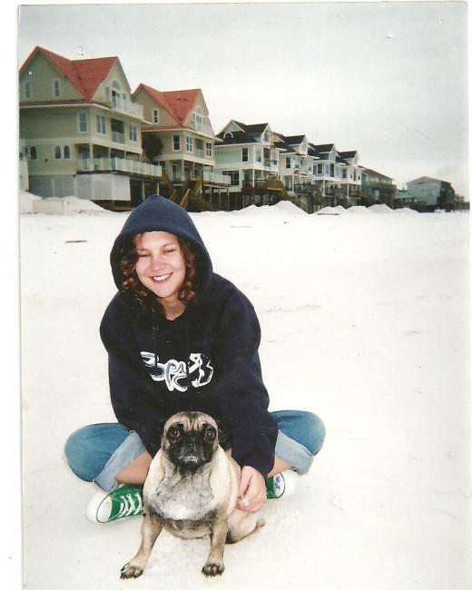 Zoe on the beach in Destin Florida